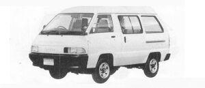 Toyota Townace VAN 4WD HIGH ROOF 4DOOR 2000 DIESEL DX 1990 г.