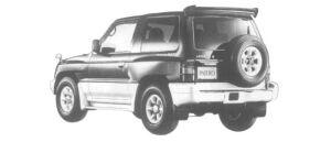 Mitsubishi Pajero METAL TOP WIDE SR 1997 г.