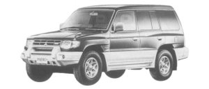 Mitsubishi Pajero MID ROOF WIDE SUPER EXCEED 1997 г.
