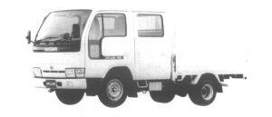 Nissan Atlas 1.0T LONG SUPER LOW DOUBLE TIRE DX 1994 г.