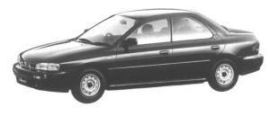 Subaru Impreza 4WD 4 DOORS HARD TOP SEDAN 1.6L CF 1994 г.