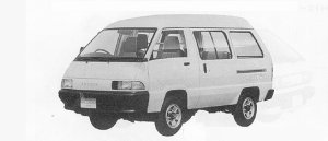 Toyota Townace VAN 4WD HIGH ROOF 4DOOR 2000 DIESEL DX 1991 г.