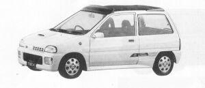Subaru REX 3DOOR SEDAN  OPEN TOP  ECVT 1991 г.