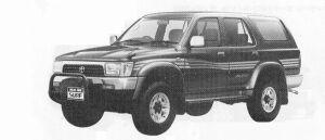 Toyota Hilux Surf WAGON 2400D TURBO 4DOOR SSR-X WIDE BODY 1991 г.