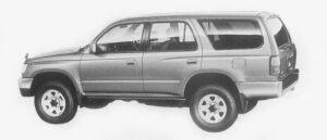 Toyota Hilux Surf 2700 GASOLINE SSR 1996 г.